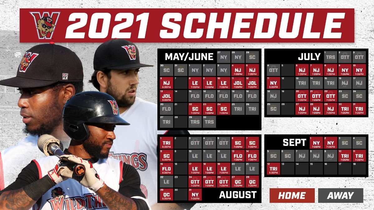 Wild Things' 2021 Schedule Announced