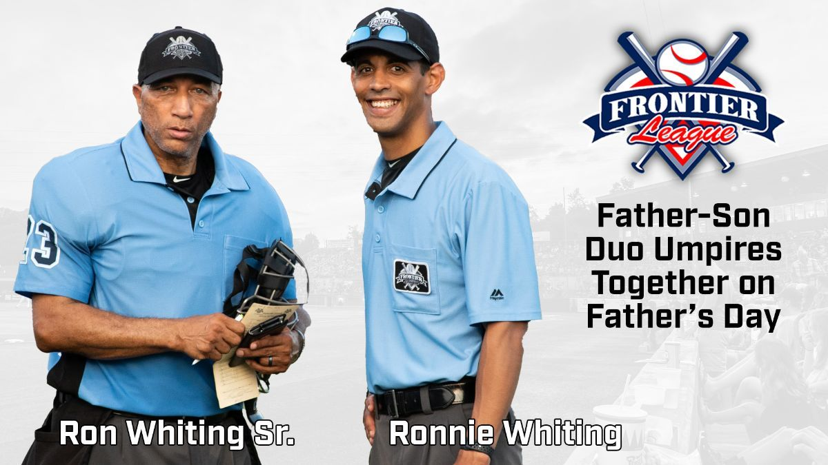 Father, Son Umpire Together on Father's Day in Washington